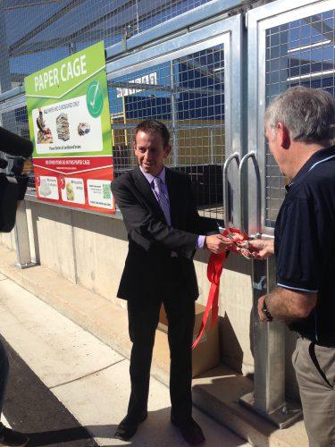 Shane Rattenbury opens gungahlin recycling centre