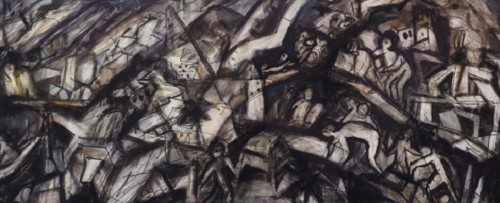 """Pam Hallandal, """"Tsunami,"""" 2007-09 (detail)"""