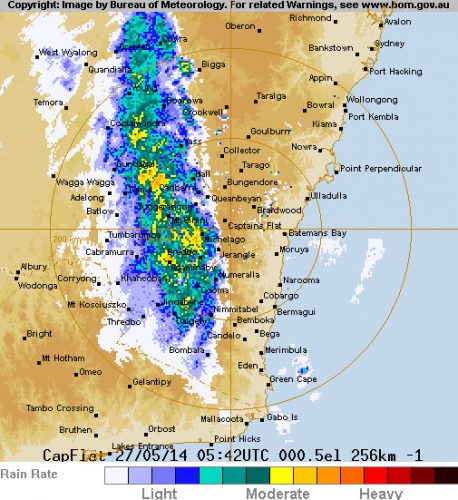 256 km Canberra (Captains Flat) Radar Loop - Google Chrome 27052014 34916 PM