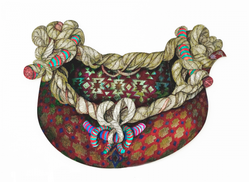 Basket with rope handles, Jenny Manning, 2013