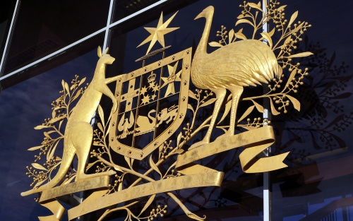 Australian coat of arms at the supreme court