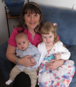 Sally McCabe with her children Aiden and Rachel.