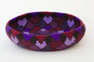 Purple coil basket, Jenny Manning, 2014