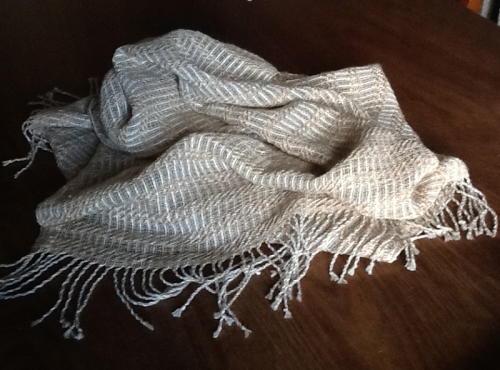 Hand woven wrap by Pam McDougall