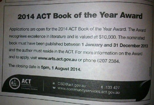 2014 ACT Book of the Year