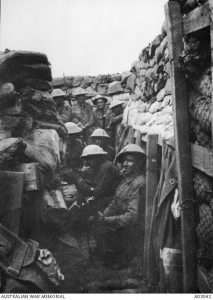 AIF members in Fromelles trench - 3 survived