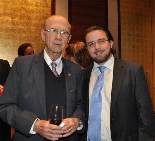 Ambassador of El Salvador Manuel Gutierrez-Ruiz and Fernando Gutierrez