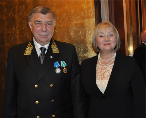 Ambassador of Russia Vladimir Morozov and his wife Elena Morozova