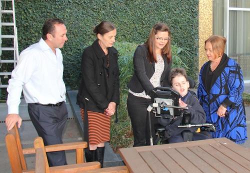 Ricky Stuart, Hilary Martin, Arlarna and Tyrone Barratt and Joy Burch