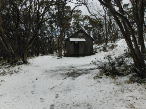 snow at pryors hut