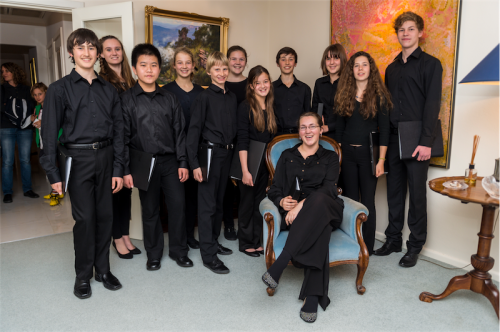 The mixed-age choir that performed at the launch of the Choirs Division of the Australian National Eisteddfod.