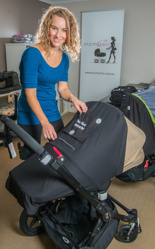 """Amy Luttrell... """"I got so many comments on the pram cover; other mums said they needed one and wanted to know where I got it from."""" Photo by Gary Schafer"""