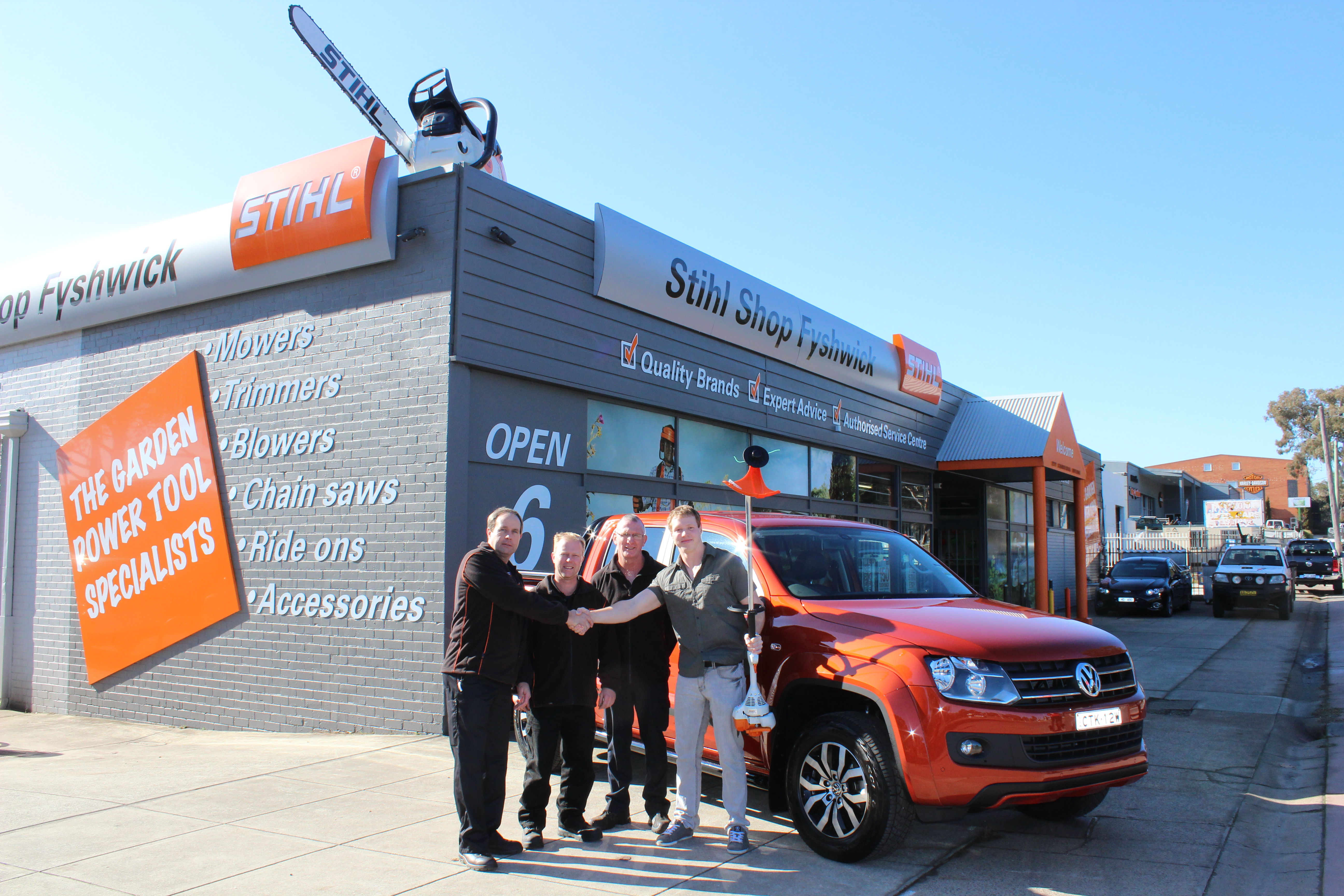 queanbeyan s alexander eglitis scores a ute at the stihl shop canberra citynews. Black Bedroom Furniture Sets. Home Design Ideas