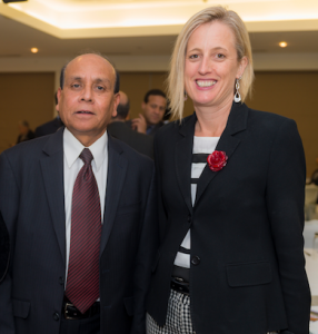 Mohammed Ali and Chief Minister Katy Gallagher at the Ramadan dinner… nice example of community spirit. Photo by Andrew Finch