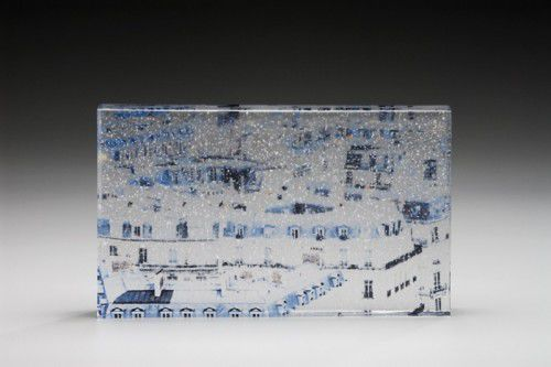 Les Toits de Paris #2, kiln-formed glass by Lisa Cahill, photo Greg Piper