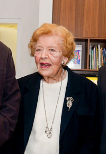 The  late Marjorie Hoffmann