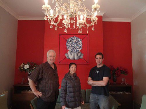 Tim Keeble, Ying Zhang and  Rory Markham at Benedict House