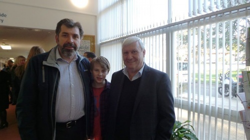 Tony LoPilato, President Southside Community Services Inc. with  Noah and Steve Dozpot