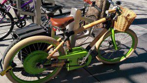 bamboo electric bicycle