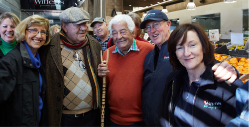 Celebrated Italian chef Antonio Carluccio at Fyshwick Markets. Photo by Aurore Harden, courtesy of the Truffle Festival