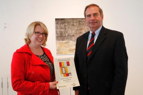 Flaherty with Queanbeyan Mayor Tim Overall
