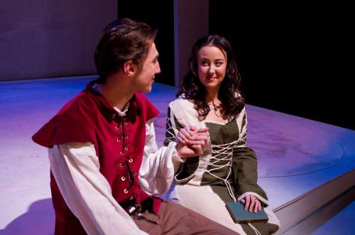 Jack Parker and Amy Dunham as Francis and Madeline, photo Lauren Sadow