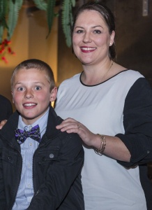 Rookie Stella fella winner Thomas Campagna and mum Alanna Davis.