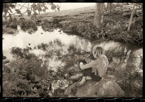 Wayne Lynch at Possum Creek 1969  by John Witzig pigment print