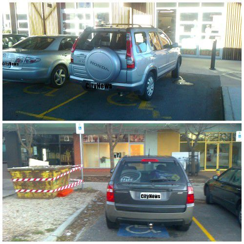 parking in disabled spaces