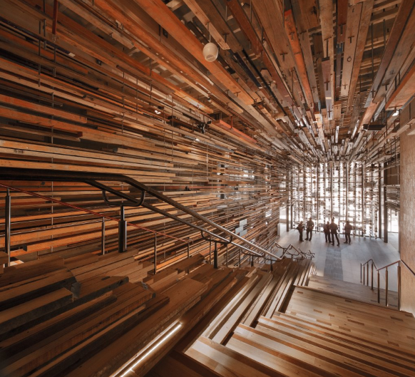 NEW ACTON's Nishi building has been recognised for its display of timber in  winning the title of Best Commercial Interior at the 2014 Intergrain  Timber ...