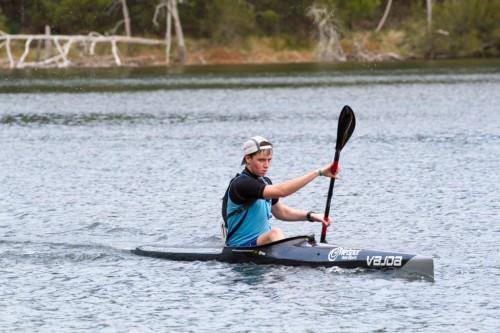 ben rake in a kayak