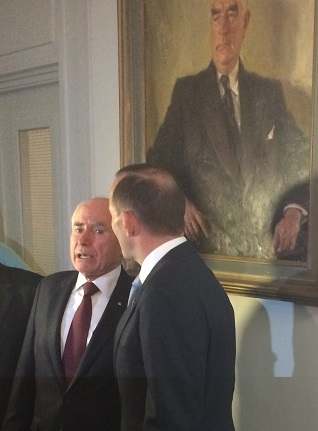 Mr Howard and Mr Abbott under Menzies portrait