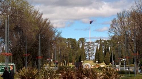flag on City Hill