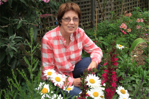 """Christine Fernon… """"I do continuious weeding by hand. It's a good way to keep an eye on everything."""""""