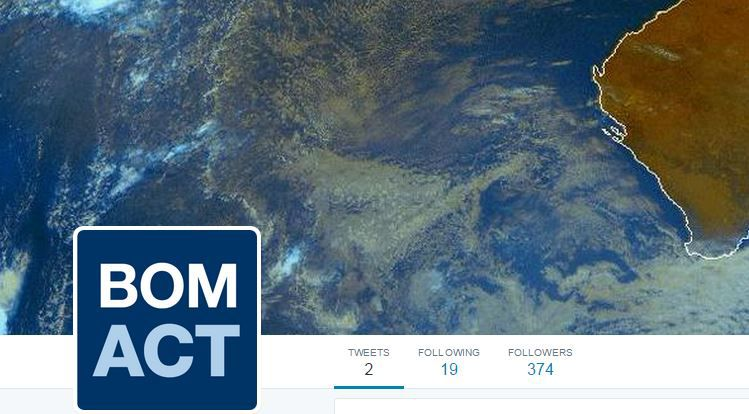 The bureau of meteorology gets a local act twitter feed for Bureau meteorology