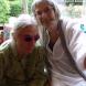 Artist Barbara Blackman, left, with Betty Churcher. Photo by Helen Musa
