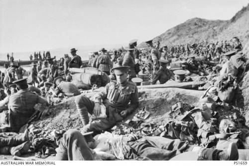 The Anzacs land at Gallipoli. Photo Australian War Memorial
