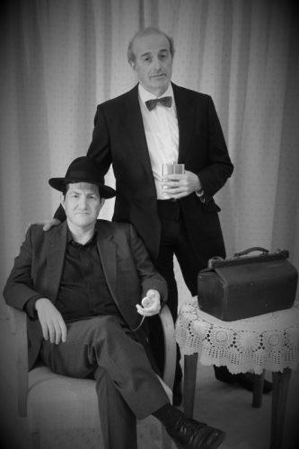 Jason Morton and Bill Kolentsis as Jonathan Brewster and Dr Einstein