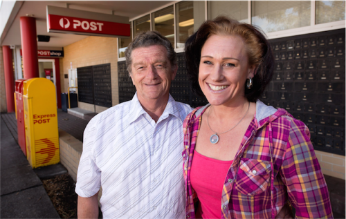 Tom Griffiths and Ntasha Gerebtzoff… he's been rallying Canberra business people to help Ntasha. Phgoto0 by Andrew Campbell