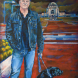 Paul Daley, as depicted by Canberra artist Barbara van der Linden