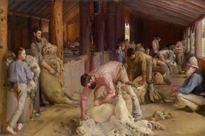 Tom Roberts, 'Shearing the Rams,' courtesy NGA