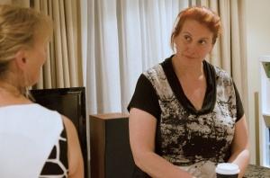 "Nikki Lyn Hunter as Sarah and Kate Blackhurst as Jane. in ""Cara Carissima"""