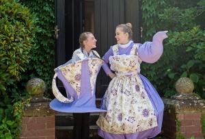 Zara McAnn as chip, Amy Jenkins as Mrs Potts. Photo by Bec Doyle Photography