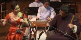 The Beijing-based Chinese Traditional Orchestra.