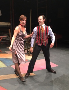"""Helen McFarlane as Jenny Diver and Tim Sekuless as Mack the Knife in """"The Threepenny Opera""""."""