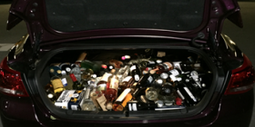 car boot full of booze