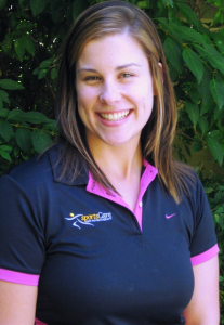 Physiotherapist and new mum, Kylie Janssens.