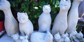 Cats… a favourite in real life and statues since the time of the pharaohs.