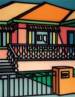 "Howard Arkley's ""Theatrical Facade"", 1996."
