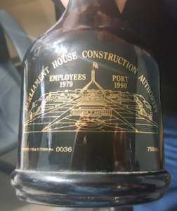 The special port bottle. Photos by Geoff Koop